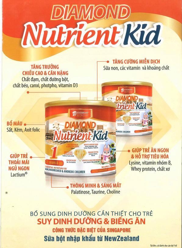 Sữa Diamond Nutrient Kid 1 Bổ sung dinh dưỡng cần thiết cho trẻ suy dinh dưỡng & biếng ăn