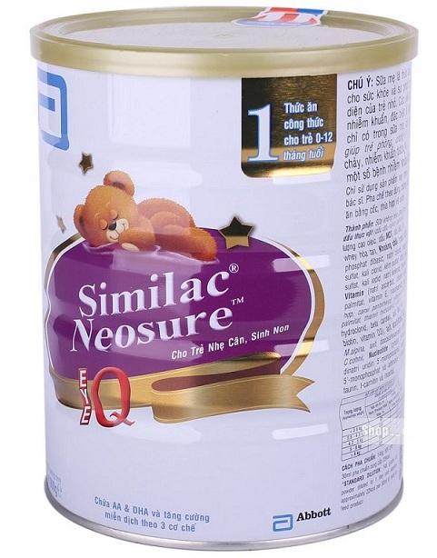 sữa bột similac neosure 900g