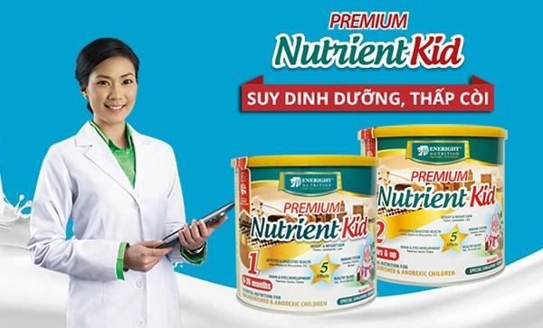 Sữa Nutrient Kid dinh dưỡng đặc trị cho trẻ suy dinh dưỡng thấp còi, giúp bé nhanh chóng phục hồi và bắt kịp đà tăng trưởng