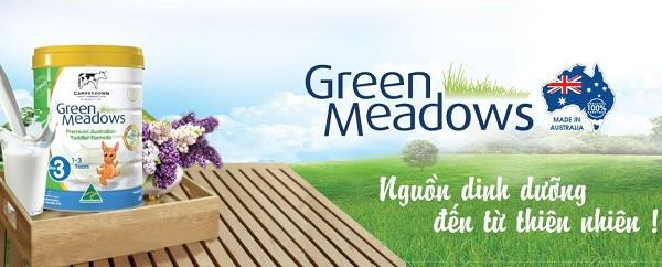 ữa Green Meadows – đầy đủ dưỡng chất cho bé khỏe mạnh và thông minh
