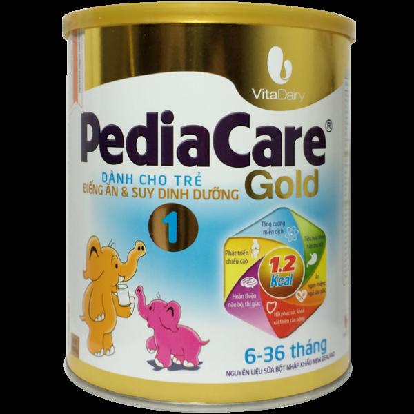 sữa pediacare gold 1 cho bé từ 6-36 tháng tăng cân tốt
