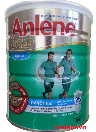 Sữa Anlene Gold dành cho người trên 51 tuổi