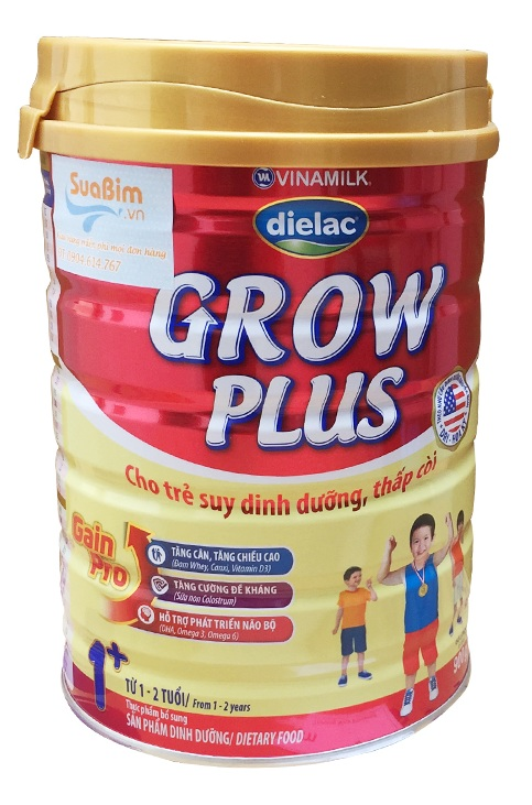 Sữa Dielac grow plus 1+ giúp bé tăng cân và chiều cao
