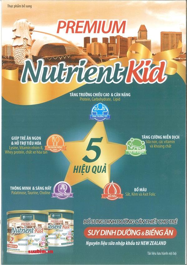Sữa Nutrient Kid tăng cân cho bé 6-36 tháng tuổi với 5 tác động hiệu quả