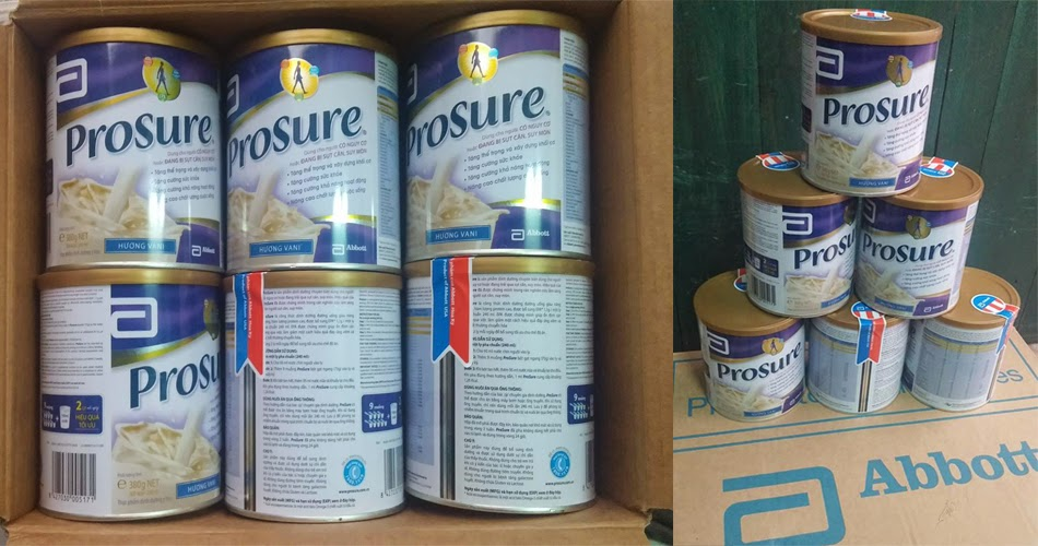 Sữa Prosure bán tại cửa hàng Suabim.vn
