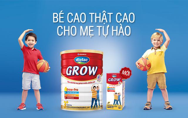 Sữa Diealc grow 2+ dinh dưỡng đặc chế giúp bé phát triển chiều cao