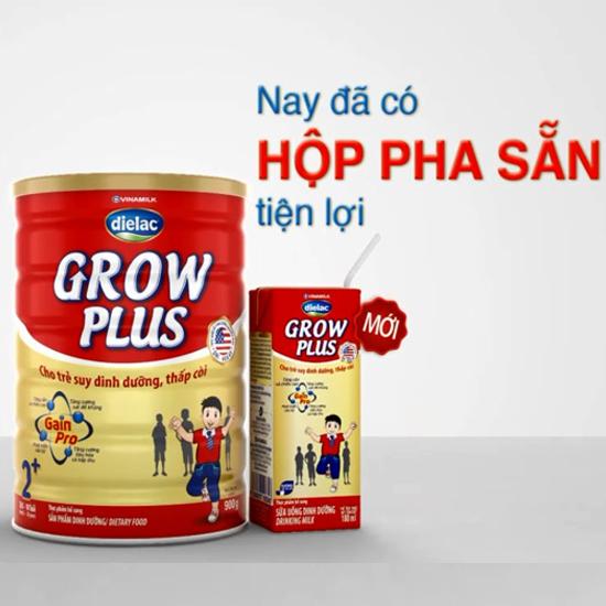 Sữa Dielac Grow Plus giúp bé tăng cân vượt trội với hộp pha sẵn tiện dụng