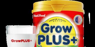Sữa Grow Plus đỏ 900g của Nutifood cho trẻ suy dinh dưỡng thấp còi