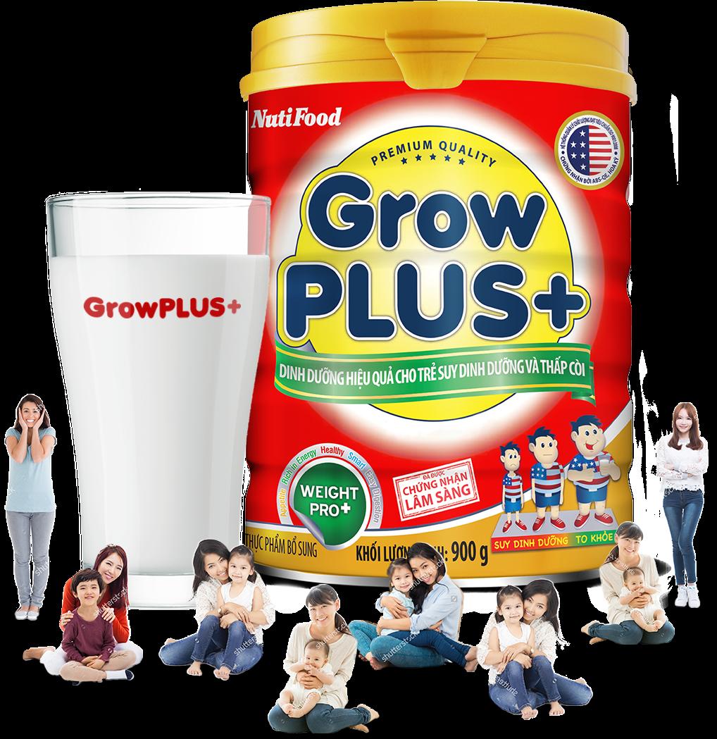 Kết quả hình ảnh cho Sữa Grow Plus đỏ
