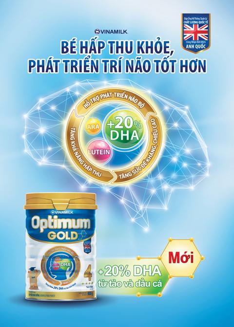 Sữa Optimum gold giúp bé tăng cân tốt