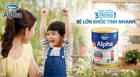 Sữa Dielac Alpha dinh dưỡng 3 trong 1 cho bé phát triển toàn diện