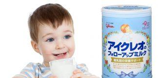 Bé uống sữa glico số 9