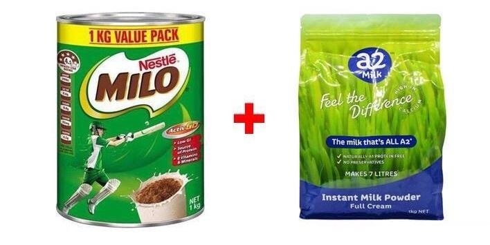 Pha sữa milo úc kết hợp với sữa tươi A2 công thức hoàn hảo
