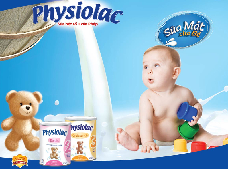 Sữa Physiolac sữa mát cho bé