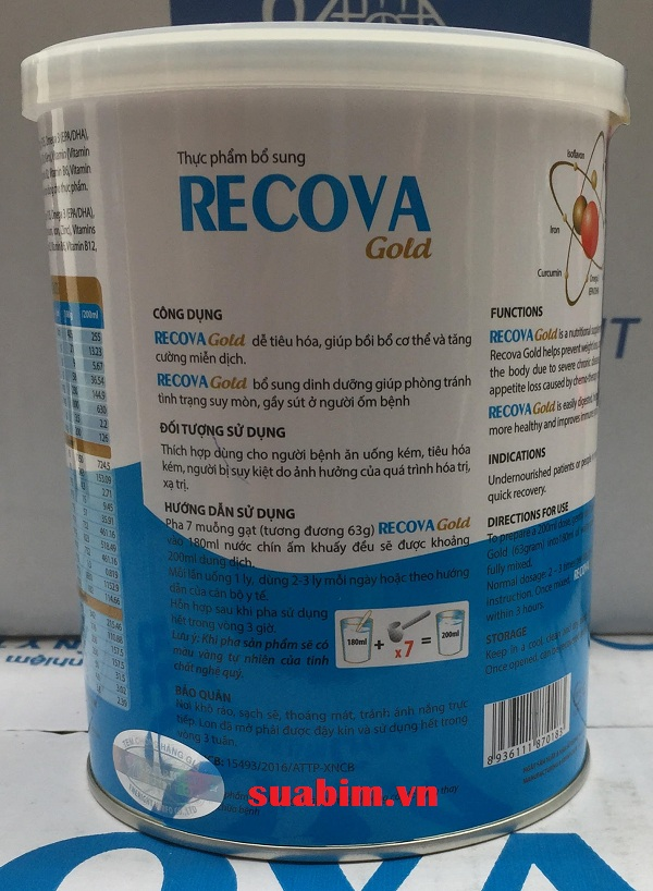 Sữa Recova dinh dưỡng tuyệt vời cho bệnh nhân ung thư