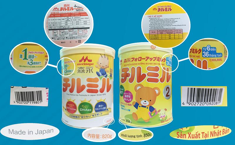 Phân biệt Sữa Morinaga nội địa nhật và Sữa Morinaga nhập khẩu