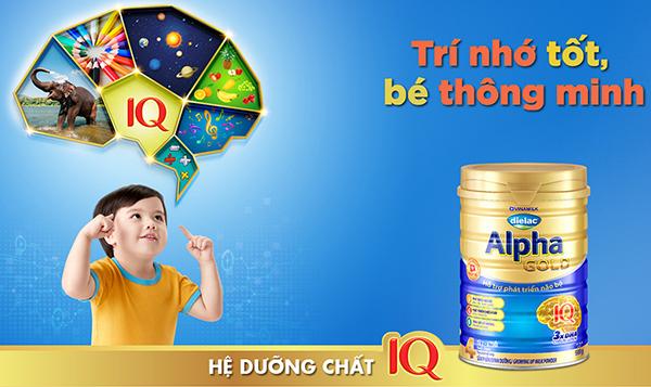 Sữa Diealac Alpha Gold giúp bé phát triển trí não tốt