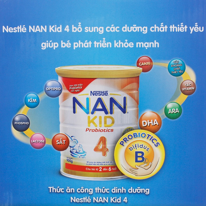 Sữa Nan Kid 4 bổ sung các dưỡng chất thiết yếu giúp bé yêu phát triển khỏe mạnh