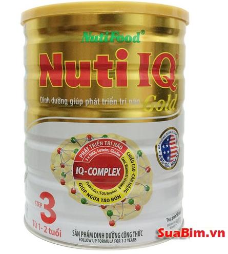 Sữa Nuti IQ gold Step 3 phát triển trí não cho bé 1-2 tuổi