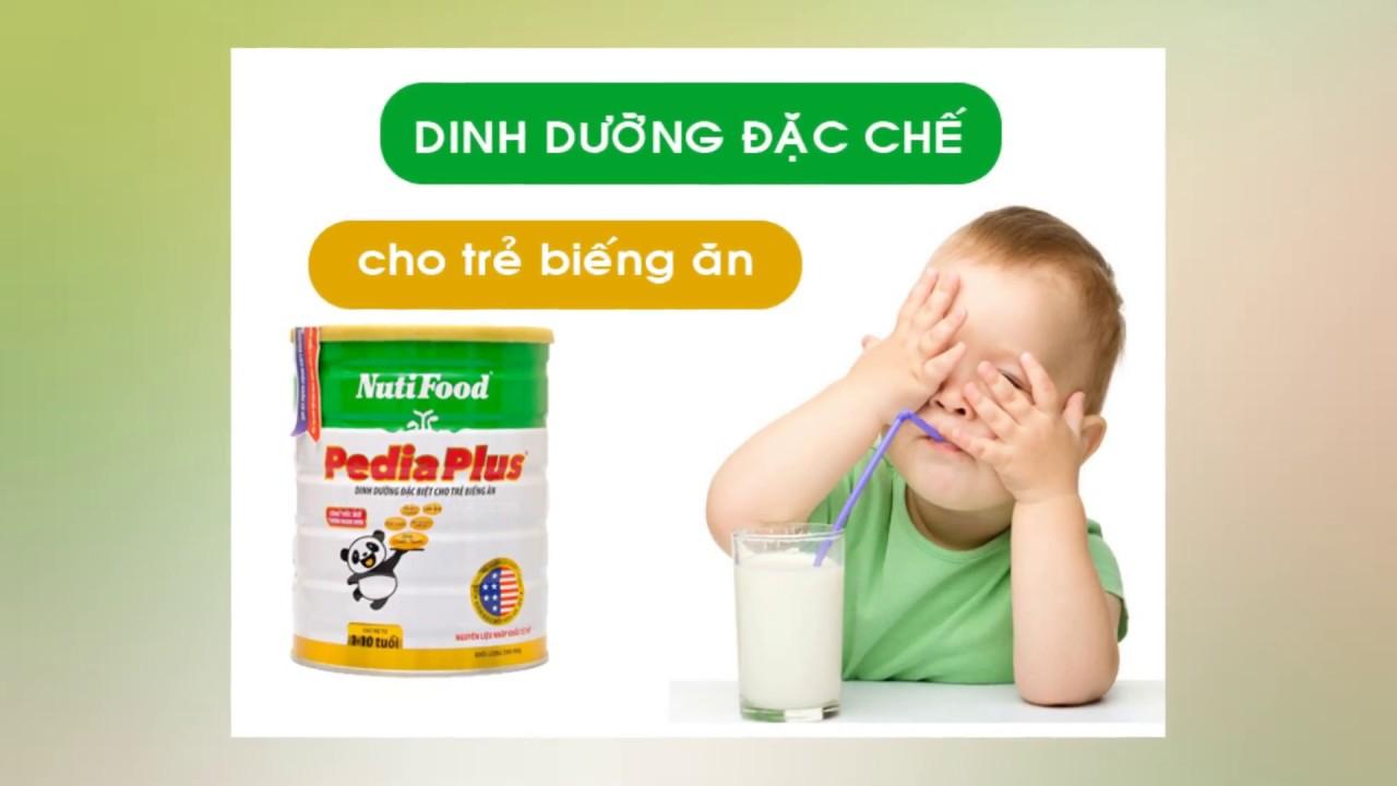 Sữa Nuti pedia plus đặc trị cho trẻ biếng ăn