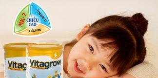 Sữa Vitagrow tăng chiều cao cho bé vượt trội