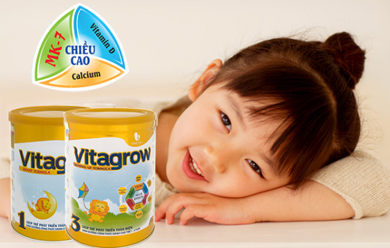 Sữa Vitagrow MK7 thơm ngon, dễ uống, dễ hấp