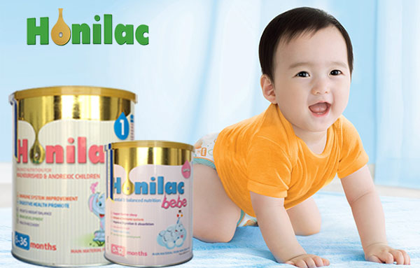 Sữa honilac bebe Sữa đặc trị cho trẻ sơ sinh biếng ăn