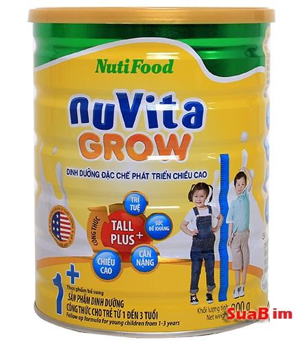 Sữa Nuvita grow 1+ phát triển chiều cao hiệu quả cho trẻ trên 1 tuổi