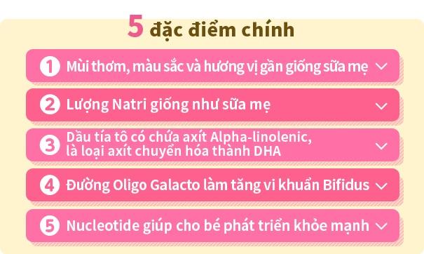 5 đặc điểm chính của sữa glico số 0