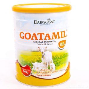 Sữa dê Goatmil BA phù hợp cho các bé bị suy dinh dưỡng