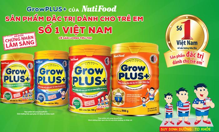 Sữa grow plus đỏ dành cho trẻ suy dinh dưỡng thấp còi của nutifood