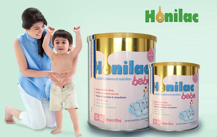 sữa honilac bebe giúp bé tăng cân