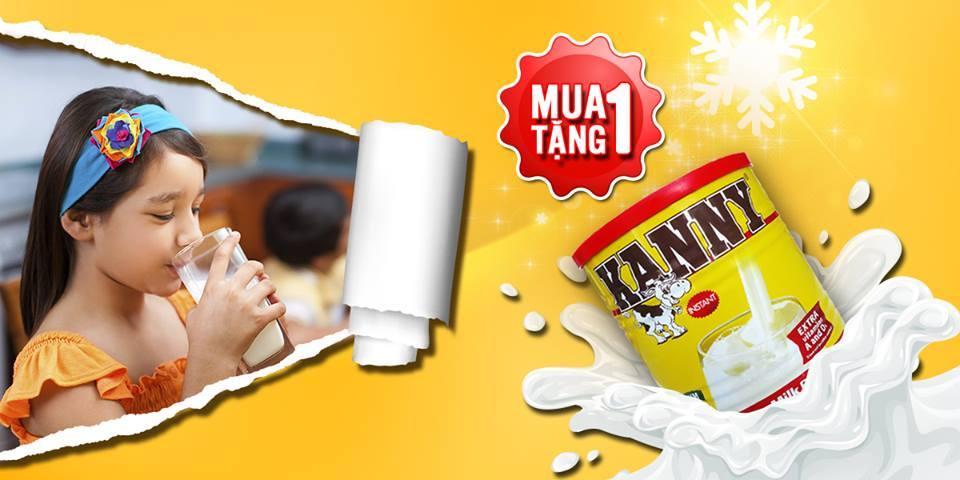 Sữa Kanny 900g dinh dưỡng cao năng lượng tăng cân cho bé