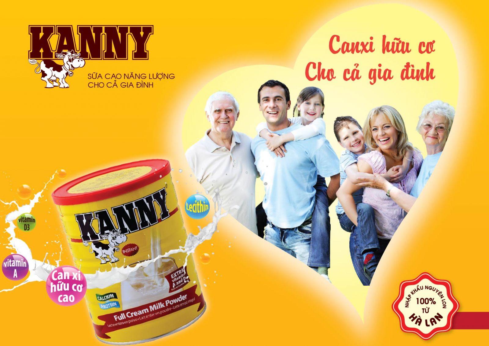 Sữa Kanny 900g sản phẩm dinh dưỡng hữu cơ đến từ Hà lan