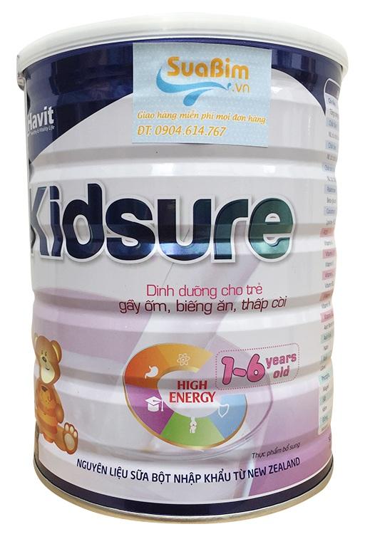Sữa Kidsure dành cho bé biếng ăn thấp còi