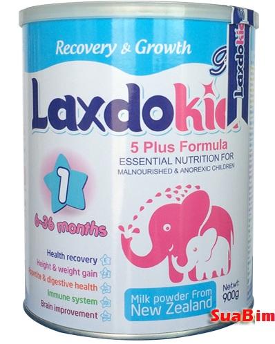 Sữa Laxdokid 900g dinh dưỡng đặc trị cho trẻ biếng ăn tăng cân nhanh