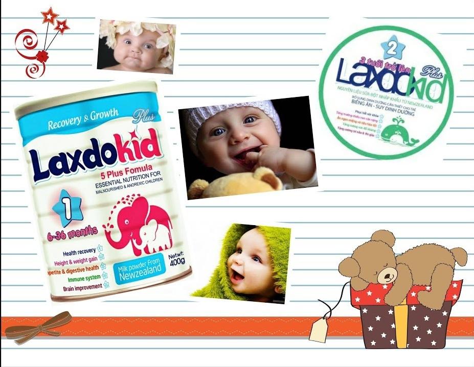 Sữa Laxdokid giúp bé tăng cân nhanh vượt trội