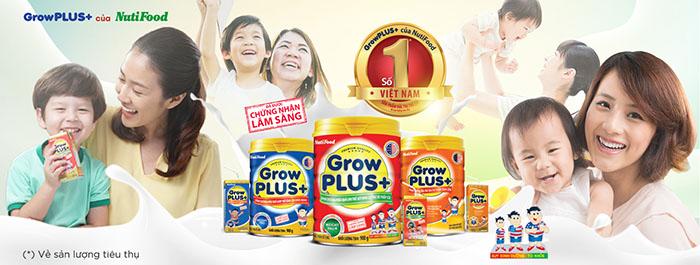 Các loại sữa dành cho trẻ suy dinh dưỡng, biếng ăn, chậm tăng cân của Nutifood