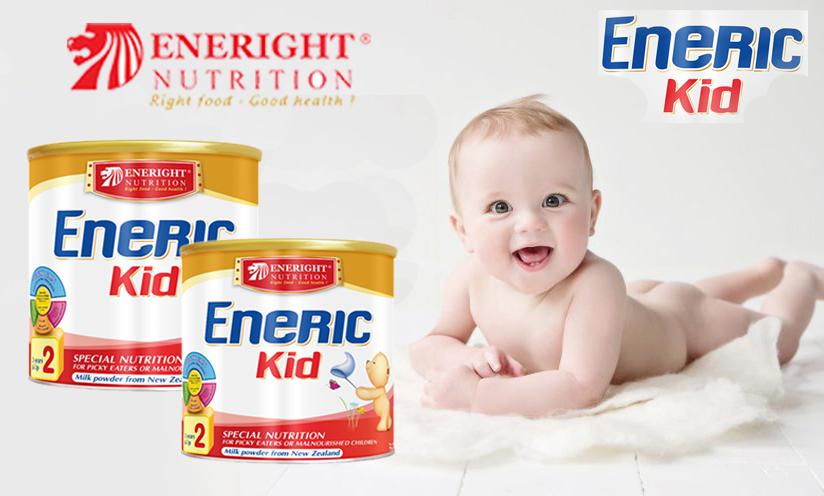 Sữa Eneric Kid cho bé biếng ăn nhanh tăng cân