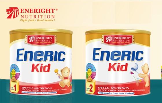 Sữa Eneric Kid số 1 và số 2 dinh dưỡng đặc trị dành cho trẻ biếng ăn suy dinh dưỡng