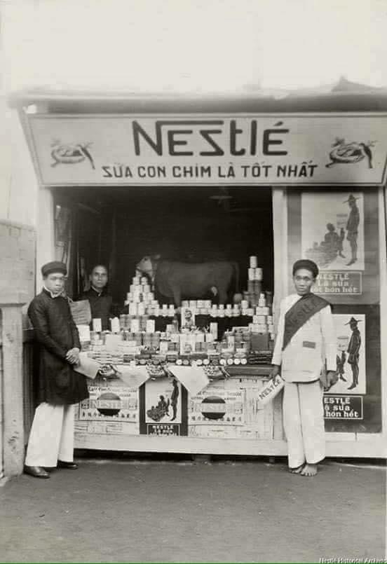 Sữa Nestle một trong những hãng sữa đầu tiên đến việt nam