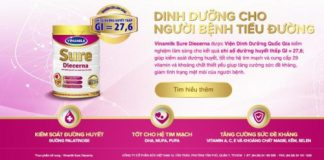 Sữa Sure Diecerna dinh dưỡng dành cho người tiểu đường của vinamilk