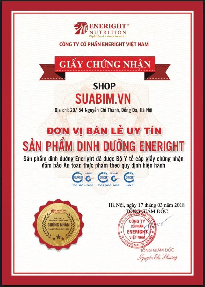 Suabim.vn Nhà phân phối chính hãng các sản phẩm sữa dinh dưỡng của Hãng Eneright