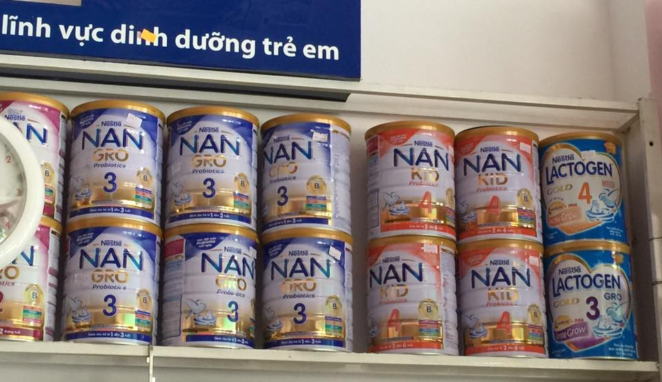 Các loại sữa NAN việt đang bán tại cửa hàng suabim.vn