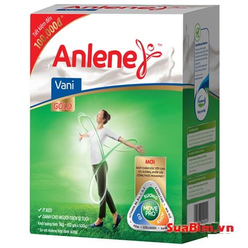 Sữa Anlene Gold 1kg hộp tiết kiệm cho người trên 51 tuổi