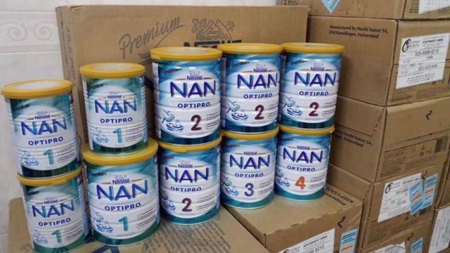 Các loại sản phẩm sữa NAN Nga đang bán tại cửa hàng Suabim.vn