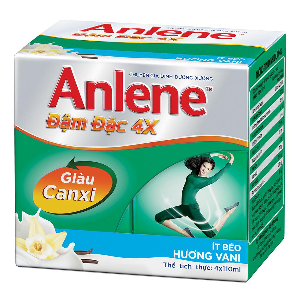 Sữa Anlene giúp tăng cường 4 lần canxi