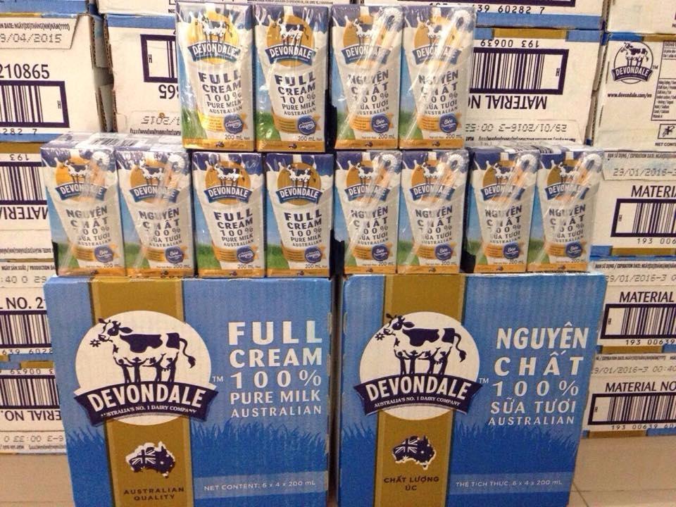 Sữa tươi Devondale nguyên kem 200ml