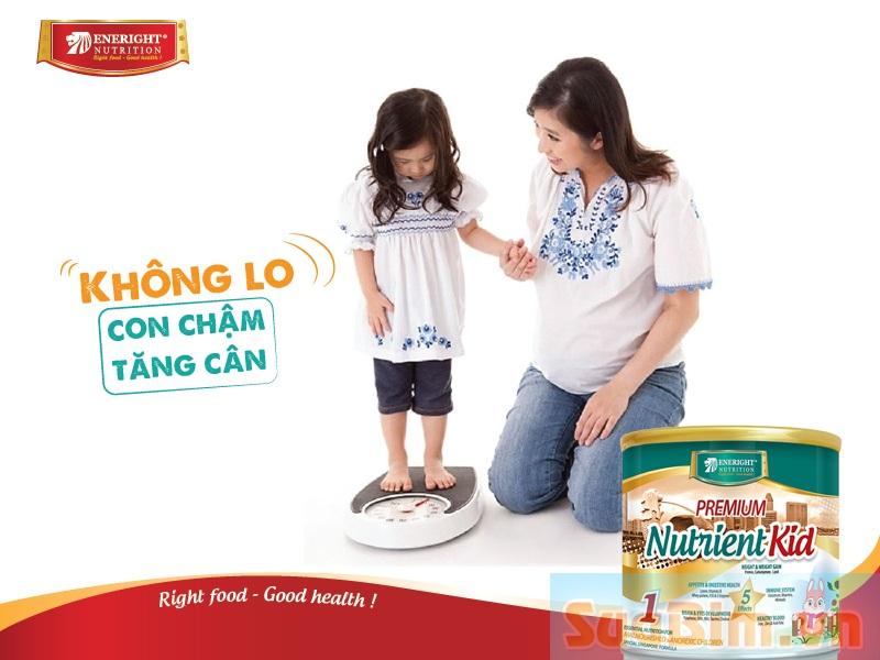 Có Sữa Nutrient Kid không lo con chậm tăng cân