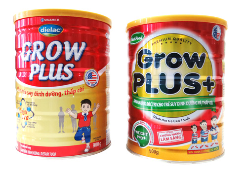 Sữa Grow Plus của Vinamilk và Nutifood